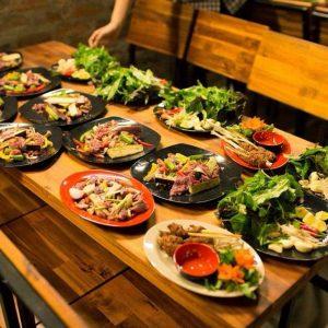 Không gian ẩm thực rất bắt mắt