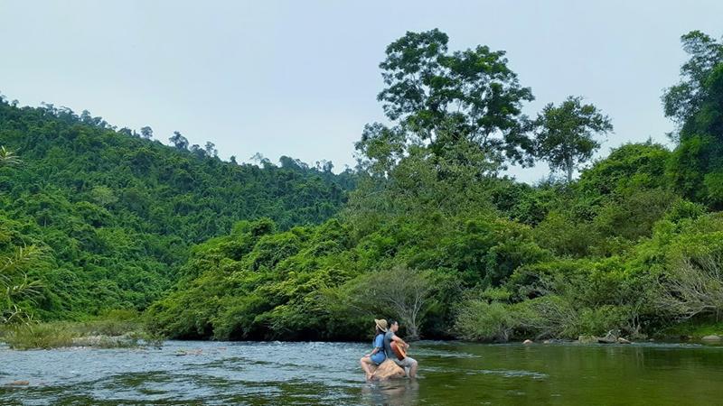 Du lịch Con Cuông du thuyền Sông Giăng