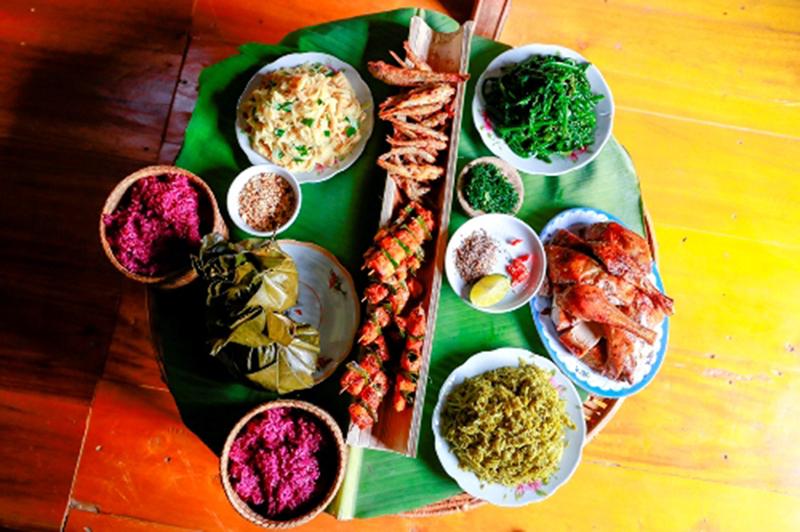 Du lịch cộng đồng bản nưa món ăn truyền thống