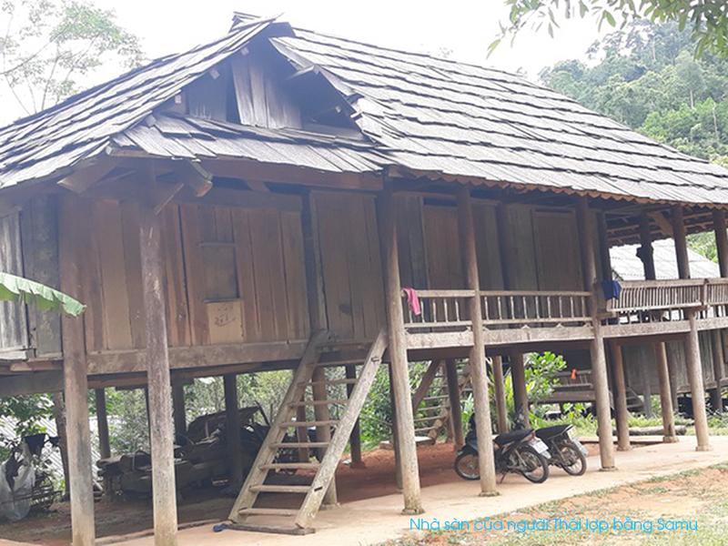 Nhà sàn ở bản Thái Cổ - Mường Đán