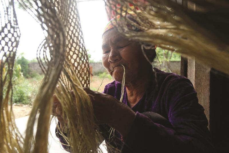 Nghề dệt võng Gai ở Giai Xuân Tân Kỳ