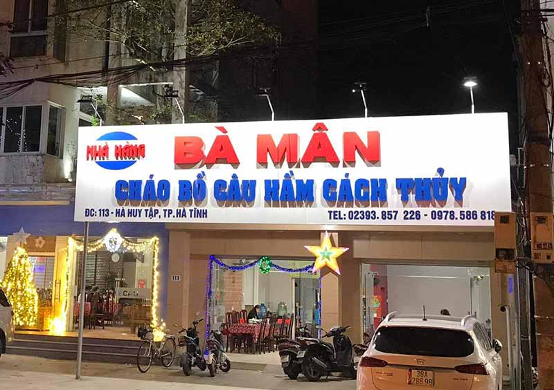 Quán ăn ngon ở Hà Tĩnh cháo bồ câu bà Mân Hà Tĩnh