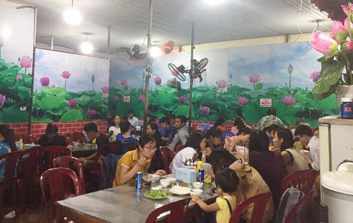 quán bún ngon Hà Tĩnh bún chả nướng Nhật Tân